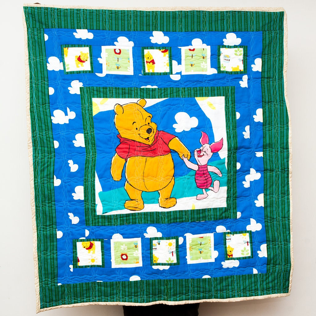 Winnie the Pooh Pooh and Piglet Sunny Sky Clouds Fabric : pooh quilt - Adamdwight.com
