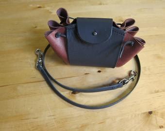 medieval belt pouch with shoulder strap
