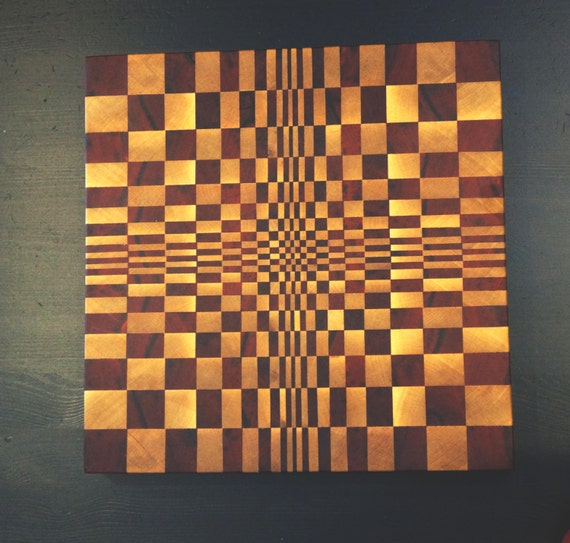 3d Cutting Board African Padauk End Grain Cutting Board End