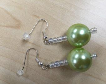 Cool green earrings