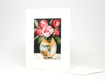 "Fine Art ""Posey"" Blank Single Card With Envelope"