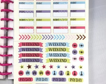 Planner Stickers Events for Mambi Happy Planner