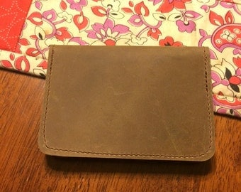 Genuine Leather Business Card Holder / Case - Amish Handmade