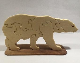 Wooden Polar Bear Jigsaw Puzzle