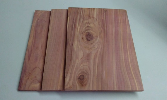 "Extra Large Cedar Grilling Planks 11"" x 8"" x 1/4"" , Salmon Grilling Planks,  Natural Cedar, Smoked Salmon, Smoked Seafood, Entree Planks"