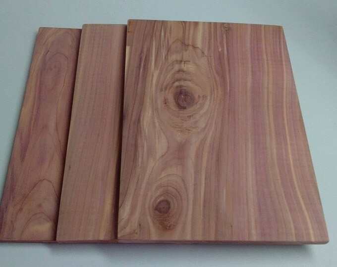 "Extra Large Cedar Grilling Planks 11"" x 8"" x 1/4"" , Salmon Grilling Planks,  Natural Cedar, Smoked Salmon, Smoked Seafood, Entree Planks"
