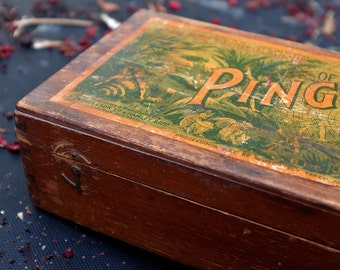 vintage wooden box ping pong or gossima