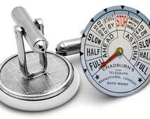 ship bridge  Cufflinks -ships  - nautical cufflinks  -