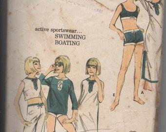 1960s Beachwear Sewing Pattern  Butterick 3546