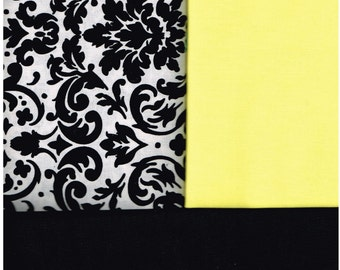 Nurses' Scrub Top, Style NR35, Made to Order Yellow, Black, White, Damask, Size Small, Med, Large, XLarge