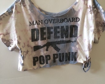Vintage & reworked Manoverboard  crop top