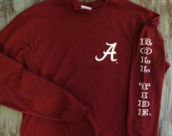 "Alabama Crimson Tide - ""Roll Tide"" Long Sleeve Tee"