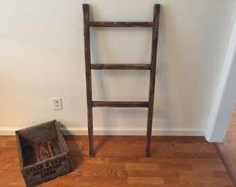 Blanket Ladder 4 Foot, Rustic Wood Ladder, Farmhouse Decor, Shabby Chic Decor, Towel Ladder, Blanket Storage, Rusic Decor, Nursery Decor