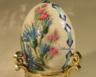 Easter souvenir egg hand painted wooden egg collectible art easter souvenir egg hand engraved and decorated chicken egg souvenir egg easter decoration negle Gallery
