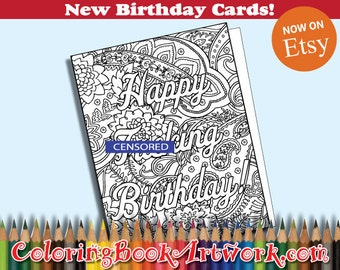 Happy Fxcking Birthday CARD - Curse Word Sweary Adult MATURE product