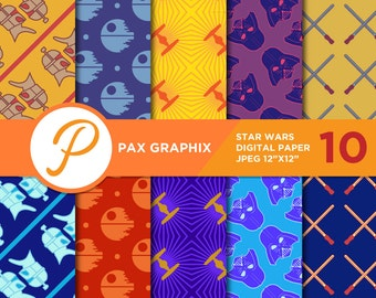 Star Wars digital paper, commercial use, scrapbook papers, background - SW01