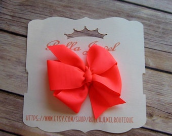 Pinwheel hair bow, Girls hair bow, baby hair bow, toddler hair bow, coral hair bow, Ready to ship gifts, baby shower gift