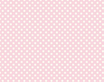 Riley Blake Designs Basic Dots Small Le Creme Cream & Pink C610-75