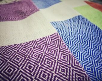 SALE %70 OFF Diamond Peshtemal Set Of 5: Blue, Green, Purple, Orange, Black, Peshtemal Towel Set, High Quality Peshtemal