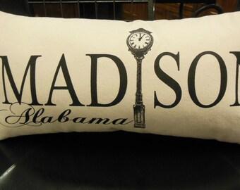 Madison Alabama Lumbar Pillow