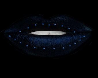 Blue Gem Lips Clip Art