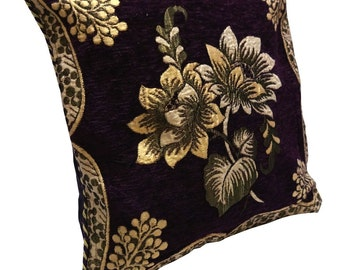 Indian Fabric Cushion Cover Indian Home Decor Embroidered Pillow Case Velvet Craft Fabric Cover Cushion Case 15 X 15