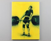Olympic Weight Lifter Painting 2nd Pull