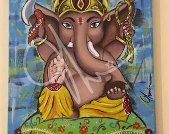 Baby Ganesha / Ganesh adorable, OM, yoga, meditation, god