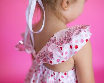 Bubblegum spot pink sparkle hummingbird dress