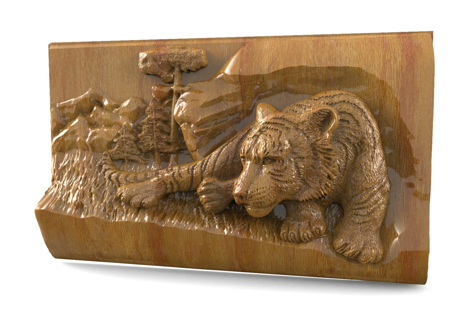 Stl file for cnc tiger router engraver carving
