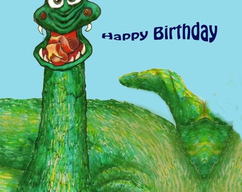 Snakey Birthday Post
