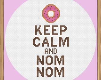 Keep Calm Donut Cross Stitch Pattern