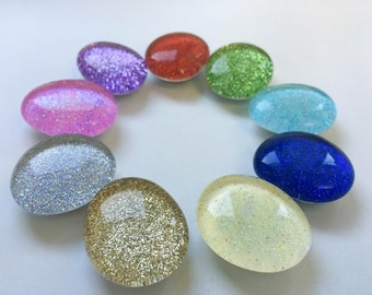Glitter Marble Magnets