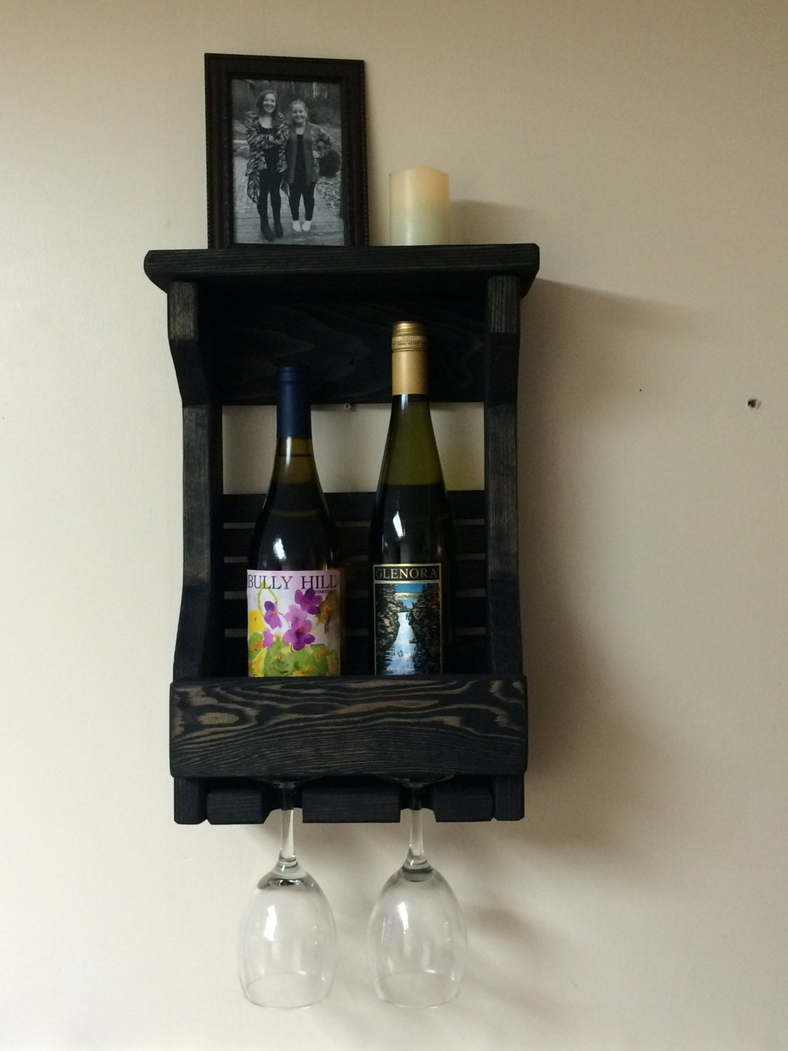 wooden wine rack wall mounted wine rack by elkwoodscreations