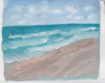 Beachy Oil Painting