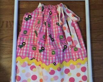 John Deere Pillowcase Dress 24 months