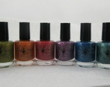 The Dazzlers Collection - glitter nail polish, nail polish collection