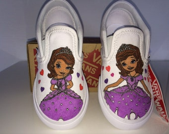 Vans slip-on Custom Shoes/shoes Personalized Baby Princess Sofia