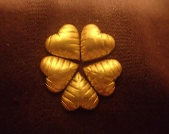 Sweet Brass Hearts  10 to a bag SBHRT2