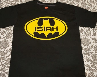 Custom Batman T-Shirt with Name