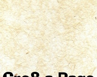 Cre8-a-Page F-5 Handmade Cream Transparent Fiber Paper 12x12 Scrapbooking, 10 Sheets