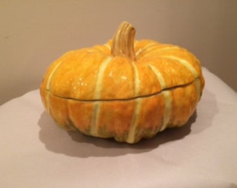 Tiffany Pumpkin Soup Tureen, perfect for fall/Halloween parties!