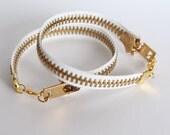 Zipper Bracelet - White