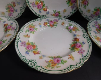 Minton Lady Claire 6 Luncheon Plates