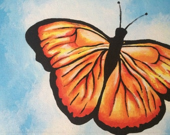 Small butterfly canvas