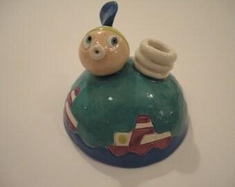 Ceramic pen holder - home decor - graduate gift - gift idea