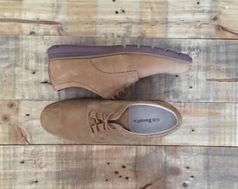 Vintage Mens Leather Oxfords / Brown Oxfords / Oxford Shoes / Oxfords Mens