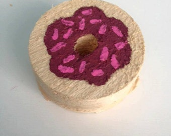 Donut Wood Chew for Small Pets
