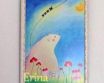 Polar Bear's Dream - A4 Print