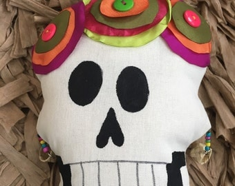 Sugar Skull Cushion Mexican Day of the Death
